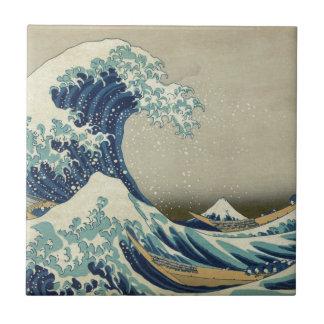 Great Wave off Kanagawa - Hokusai Ceramic Tile
