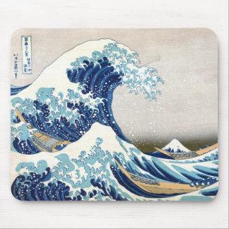Great Wave Off Kanagawa Hokusai Fine Art Mouse Pad