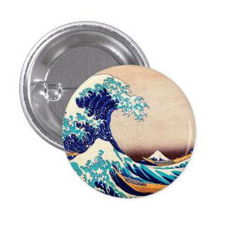 Great Wave Off Kanagawa Hokusai Japanese Vintage Pinback Buttons