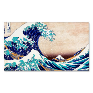 Great Wave Off Kanagawa Japanese Vintage Fine Art Magnetic Business Cards (Pack Of 25)