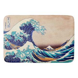 Great Wave Off Kanagawa Japanese Vintage Fine Art Bath Mats