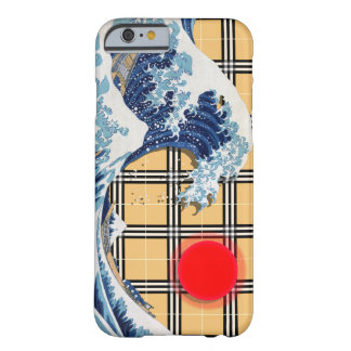 Great Wave off Kanagawa on a Tartan Matrix Barely There iPhone 6 Case