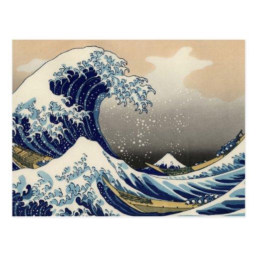 Great Wave off Kanagawa Oriental Fine Art Post Card