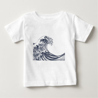 Great Wave Vintage Style Woodcut Baby T-Shirt