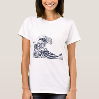 Great Wave Vintage Style Woodcut T-Shirt