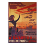Great Week of Aviation - Woman Waving Poster