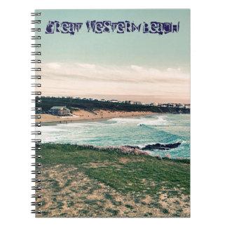 Great Western Beach Newquay Notebooks