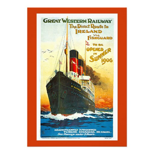 Great Western Railway, Route to Ireland Vintage Announcement