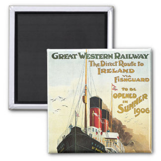Great Western Railway - To Ireland Square Magnet