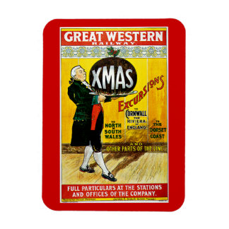 Great Western Railway Xmas Excursions Rectangular Magnets