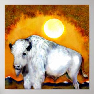 Great White Buffalo Poster