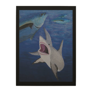 Great white deep wood canvases