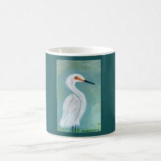 Great White Egret Fine Art Painting Coffee Mug