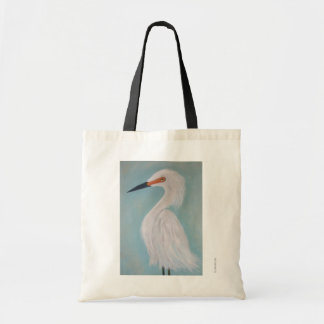 Great White Egret Fine Art Painting Tote Bag