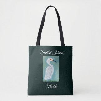 Great White Egret Painting - Sanibel Fine Art Tote Bag