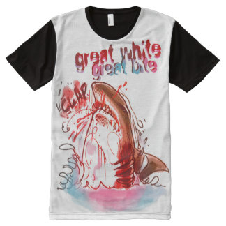great white great bite All-Over print T-Shirt