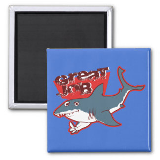 great white great job funny cartoon magnet