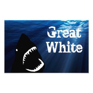 Great White Art Photo
