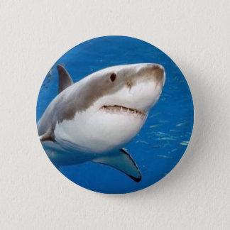 Great White Shark 6 Cm Round Badge