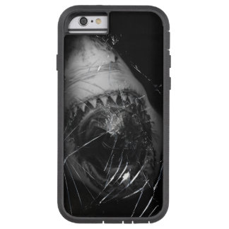 Great white shark attack phone cover under ocean