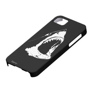 Great White Shark Black And White Design iPhone 5 Case