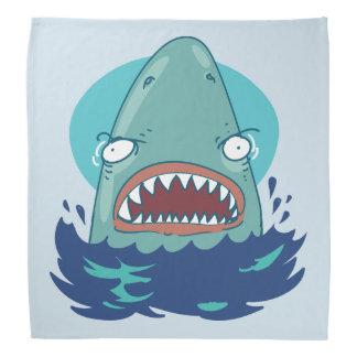 great white shark funny cartoon bandana