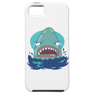 great white shark funny cartoon iPhone 5 case