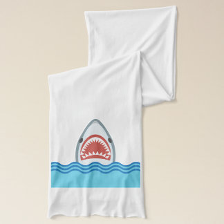 Great White Shark Leaps from the Waves Scarf