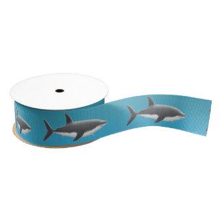 Great White Shark Ocean Ribbon Grosgrain Ribbon