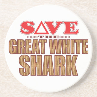 Great White Shark Save Coaster