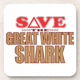Great White Shark Save Drink Coasters