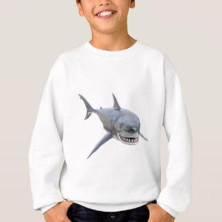great white shark swimming to the front sweatshirt