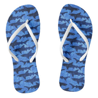 Great White Sharks Beach Party Fun Thongs