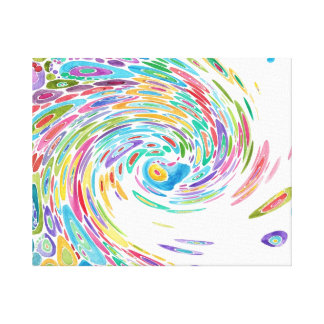 Great White Wave Stretched Canvas Print
