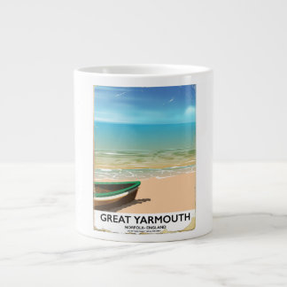 Great Yarmouth, Norfolk, Seaside travel poster Large Coffee Mug