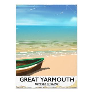 Great Yarmouth, Norfolk, Seaside travel poster Photo Print