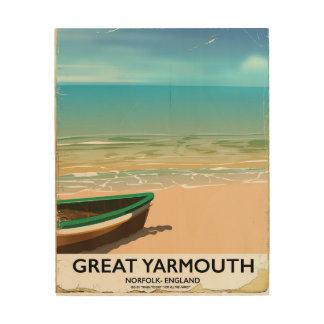 Great Yarmouth, Norfolk, Seaside travel poster Wood Prints