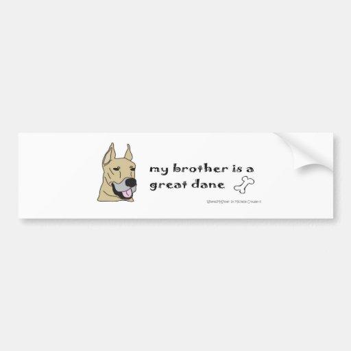 GreatDaneFawnBrother Bumper Sticker
