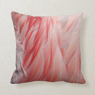 Greater Flamingo Coral Pink Wing Feathers Texture Cushion