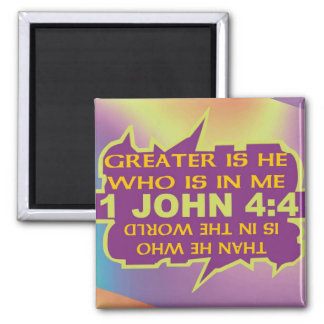 Greater Is He Magnet