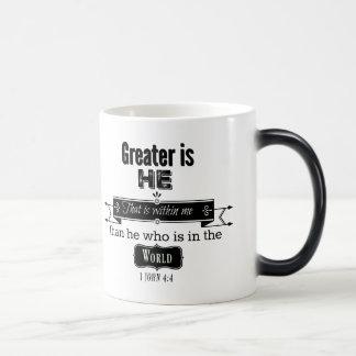 Greater is HE- Scripture Mug