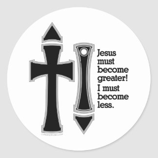 Greater-Less John 3-30-B Classic Round Sticker