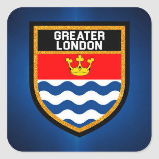Greater London Flag Square Sticker
