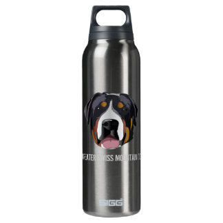 GREATER SWISS MOUNTAIN DOG 0.5L INSULATED SIGG THERMOS WATER BOTTLE