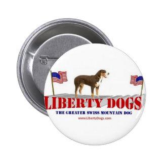 Greater Swiss Mountain Dog 6 Cm Round Badge