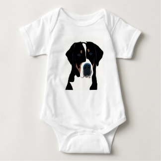 Greater Swiss Mountain Dog Baby Bodysuit