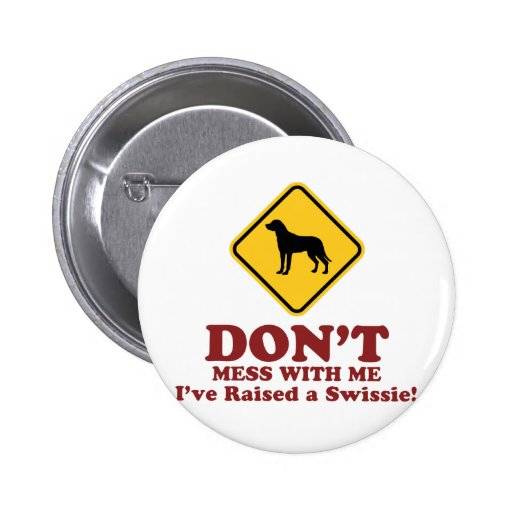 Greater Swiss Mountain Dog Pinback Buttons