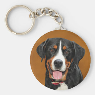 Greater Swiss Mountain Dog Basic Round Button Key Ring