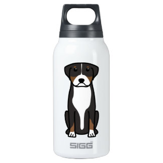 Greater Swiss Mountain Dog Cartoon 0.3L Insulated SIGG Thermos Water Bottle