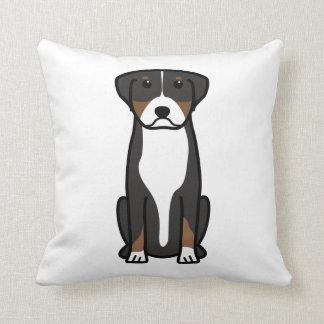 Greater Swiss Mountain Dog Cartoon Pillows